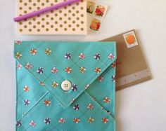 Fabric Stationery Envelope // Envelope Pouch