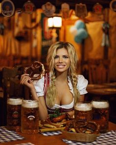 Oktoberfest is a great occasion to drink dark beer and have fun with friends 🥨🍻