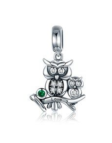 jewellery: Silver Mother Owl Charm!