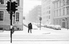 ....kisses on the corner...in the snow....
