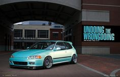 honda-civic-eg-midori-green - Rides & Styling Honda Civic Vtec, Honda Civic Hatchback, My Dream Car, Dream Cars, Civic Eg, Classic Japanese Cars, Japanese Domestic Market, Jdm Cars, Tuner Cars