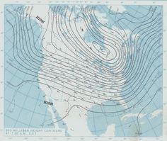 isarithmic map of barometric pressure