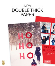 Sneak Peek at Pear Tree's new Christmas Card Ideas for 2015. Impress your friends with new double thick paper.