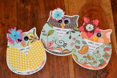 owl party ideas | And a few with wings closed.