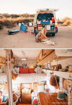 caravan renovation diy 829717931331929441 - Complete with ovens, closets, beds, and fold-out desks these converted mobile dwellings may inspire you to Marie Kondo your life and take a journey of your own. Source by melaniebatel Bus Camper, Camper Life, Van Life, Vans, Casas Trailer, School Bus Tiny House, Kombi Home, Bus Living, Caravan Renovation