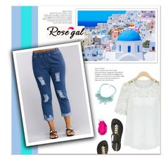"""""""Rosegal"""" by janee-oss ❤ liked on Polyvore featuring IPANEMA and Urban Decay"""