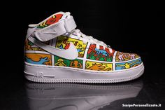 Nike Air Force One Personalizzate – Keith Haring Omini Colorati