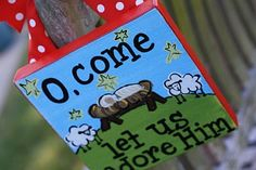 Cute little Christmas sign showing the true meaning of Christmas