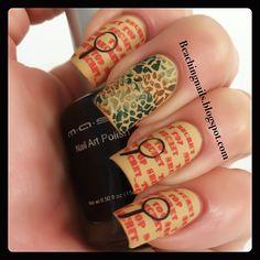 Close ups..# Nail Art. Top Secret Agent!