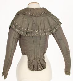 Imatex - the elusive back view of a jacket very similar to the 1790s jacket held in KCI