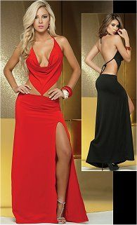 33bf71723e2 Cowl Neck Gown Sexy Long Dress