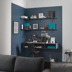 Une délimitation colorée au mur pour un max d'effet