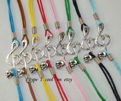 Multicolor optional zh devil music symbol bracelet by itypeicool, $0.99