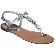 Target Mobile Site - Women's De Blossom Tindra Multi Rhinestone Sandal - Silver