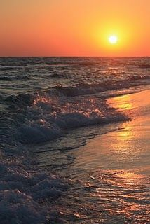 """God's beautiful creation! :)  """"Who taught the ocean it could only come so far?""""  The One who was and is and is to  come...even so Lord Jesus...COME"""