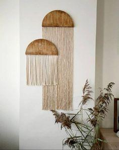 Diy Wall Art, Diy Wall Decor, Bedroom Decor, Creative Wall Decor, Macrame Wall Hanging Diy, Diy Crafts For Home Decor, Creation Deco, Home Room Design, Boho Diy