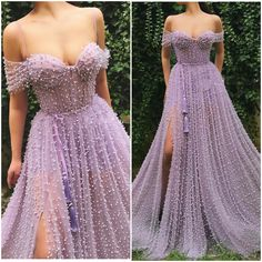 lavender prom dresses long off the shoulder beaded elegant purple prom gown vestido de Longo Lavender Prom Dresses, Pretty Prom Dresses, Elegant Dresses, Sexy Dresses, Fashion Dresses, Formal Dresses, Summer Dresses, Wedding Dresses, Lavender Gown