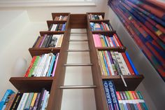 """""""Stairway To Heavenly Taste"""". Bookcase for cookbooks. Stairways, Heavenly, Bookcase, Shelves, Home Decor, Stairs, Staircases, Shelving, Decoration Home"""