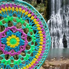 Ravelry: Petal Power Mandala pattern by Alia Bland Blog Crochet, Crochet Videos, Crochet Home, Crochet Crafts, Yarn Crafts, Crochet Mandala Pattern, Crochet Squares, Crochet Patterns, Knitting Projects