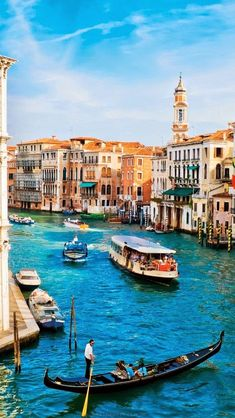 15 Most Beautiful Places To Visit In Italy - Grand Canal, Venice, Italy Places Around The World, The Places Youll Go, Travel Around The World, Places To See, Around The Worlds, Vacation Destinations, Dream Vacations, Vacation Spots, Vacation Packages