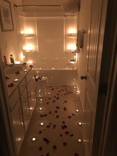 Romantic Surprise for her? True Love,tell me im beaut… Romantic Room Surprise, Romantic Bath, Romantic Date Night Ideas, Romantic Things, Romantic Dinners, Romantic Valentines Day Ideas, Romantic Honeymoon, Honeymoon Ideas, Fun Things