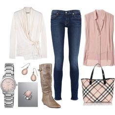 Pink accents are my favorite, but just say NO to skinny jeans! Otherwise I love it all