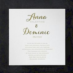 Joyous Spectacle #Letterpress #Wedding #Invitation