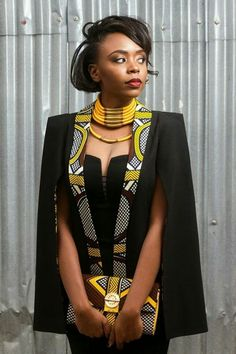Outstanding Cape Blazer by Nana Wax Are you looking for African inspired Fashion? You should check out the beautiful and outstanding Cape Blazer by Nana Wax. African Fashion Designers, African Inspired Fashion, Latest African Fashion Dresses, African Dresses For Women, African Print Dresses, African Print Fashion, Africa Fashion, African Attire, African Wear