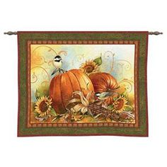 Joyful Harvest Tapestry Wall Hanging