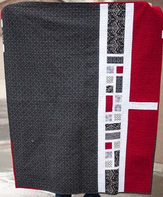 Back of the Rectangle Squared quilt I just pinned - wonderful!  DSC_3553 by Pitter Putter Stitch, via Flickr