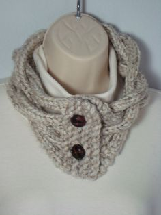 Hand knit - Loom Knitted - Cowl Neck Warmer