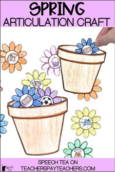 Spring speech therapy crafts are fun for the kids and no prep for you! This spring articulation activity will be a big hit. Spring speech therapy activities are a must in your speech room to engage your students in functional activities. Students will stuff their sounds into the easy to make pot of this articulation craft. Perfect to send home for homework and carryover.
