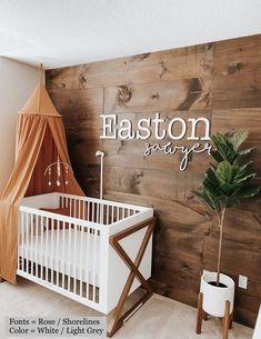 Nursery Signs, Nursery Wall Decor, Baby Decor, Nursery Room, Girl Nursery, Name In Nursery, Name Wall Decor, Nursery Letters, Boho Nursery