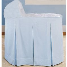 Inverted pleat skirt - I want more pleats Bassinet Ideas, Best Bassinet, Baby Beds, Baby Boy Rooms, Cradle Bedding, Baby Dolls, Corner, Babies, Skirt