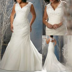 Free Shipping Wholesale Deep Sweetheart Neckline Lace Mermaid Plus Size Wedding Dresses with Sleeves for Fat Women