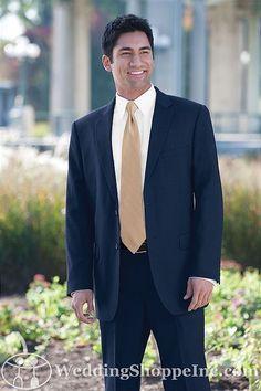 Suits Jim's Formal Wear Navy Two Button Suit Men's Wedding Suits