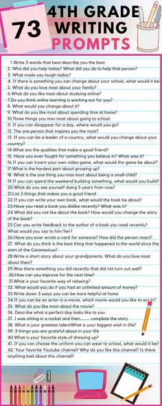 4th Grade Writing Prompts