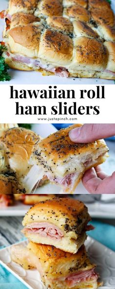easy hawaiian roll ham and cheese sliders! a great appetizer for parties or tailgating! #easyrecipe #sliders #appetizer #tailgating #hamandcheese #hawaiianrolls