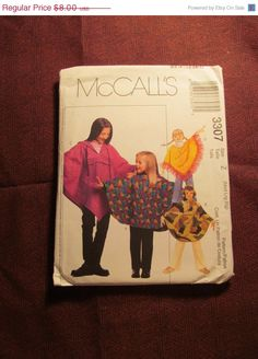 SALE Uncut McCall's Sewing Pattern 3307 by EarthToMarrs on Etsy, $5.60
