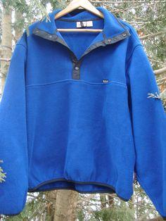 Woolrich 90s Fleece Pullover Royal Blue  by FleecenStuff on Etsy