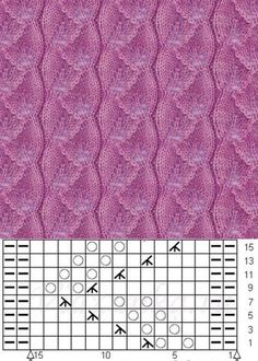 Zopfmuster new knitting techniques - Knitting Techniques Lace Knitting Stitches, Lace Knitting Patterns, Knitting Charts, Stitch Patterns, Diy Crafts Knitting, Easy Knitting, Knitting Projects, How To Start Knitting, Cable Knit