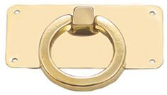 Polished Brass Ring Drawer Pull, historichouseparts.com, $5.46