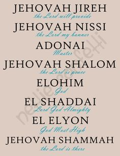 Names of God Instant Download by NettieConfetti on Etsy