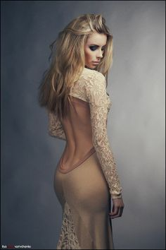 Cutout back backless dress,,, in a different ...