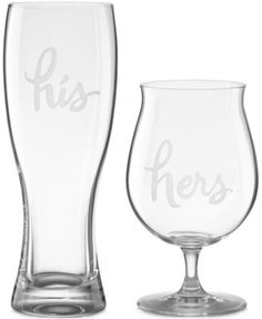 kate spade new york Two of a Kind His & Hers Beer Glasses #LGLimitlessDesign #Contest