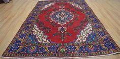 6'5x9'8 Nice Colors Genuine S Antique Persian Tabriz Handmade Oriental Wool Rug #Persian