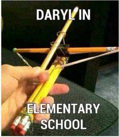 Daryl in elementary school