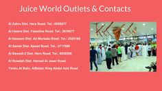 Visit our #Juice Center Outlets: Know more about our #JuiceWorld outlets and contacts here: http://juiceworld.com.sa/  #juices #jeddah #food