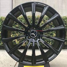 """19"""" Mercedes Benz Wheels Tires C300 BLACK SL55 E55 E350 CLS550 CLS S430 S500 AMG"""