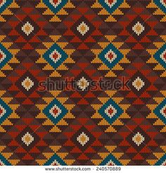 Tribal Aztec Pattern on the wool knitted texture. Seamless background Tribal Aztec Pattern on the wool knitted texture. Tapestry Crochet Patterns, Needlepoint Patterns, Perler Patterns, Cross Stitch Patterns, Cross Background, Seamless Background, Motif Fair Isle, Navajo Pattern, Cross Stitch Cushion